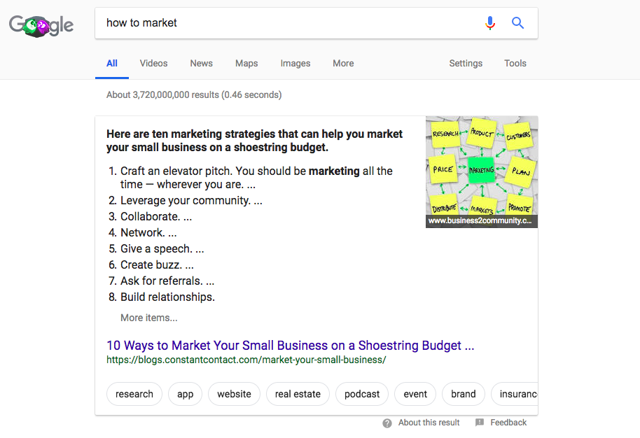 Featured Snippet exampl3