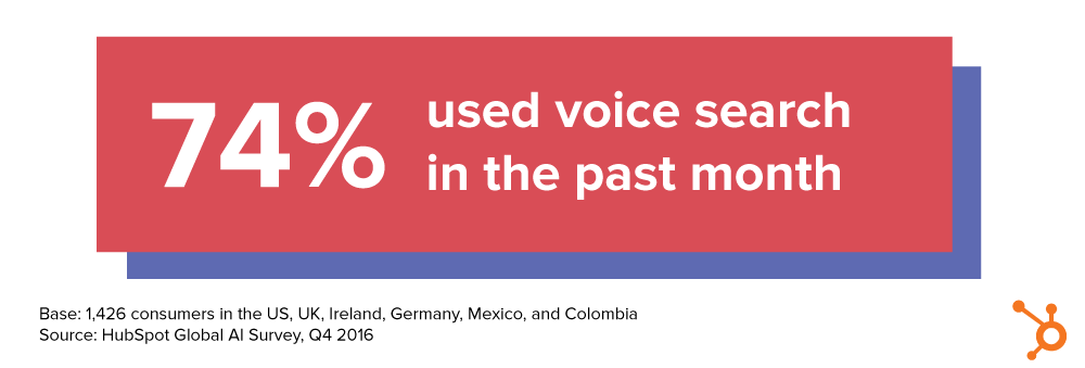 Voice search usage