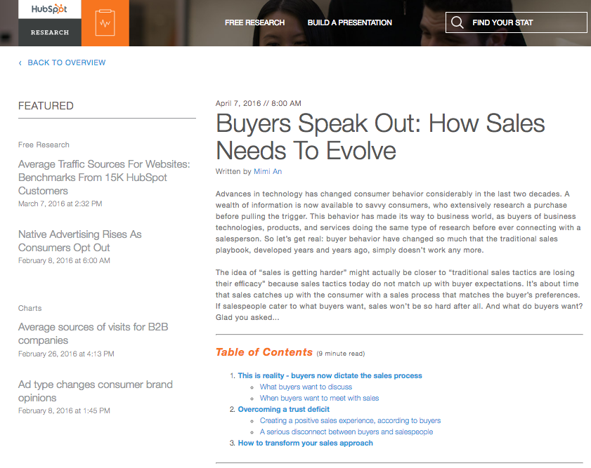 HubSpot Research - Sales Report