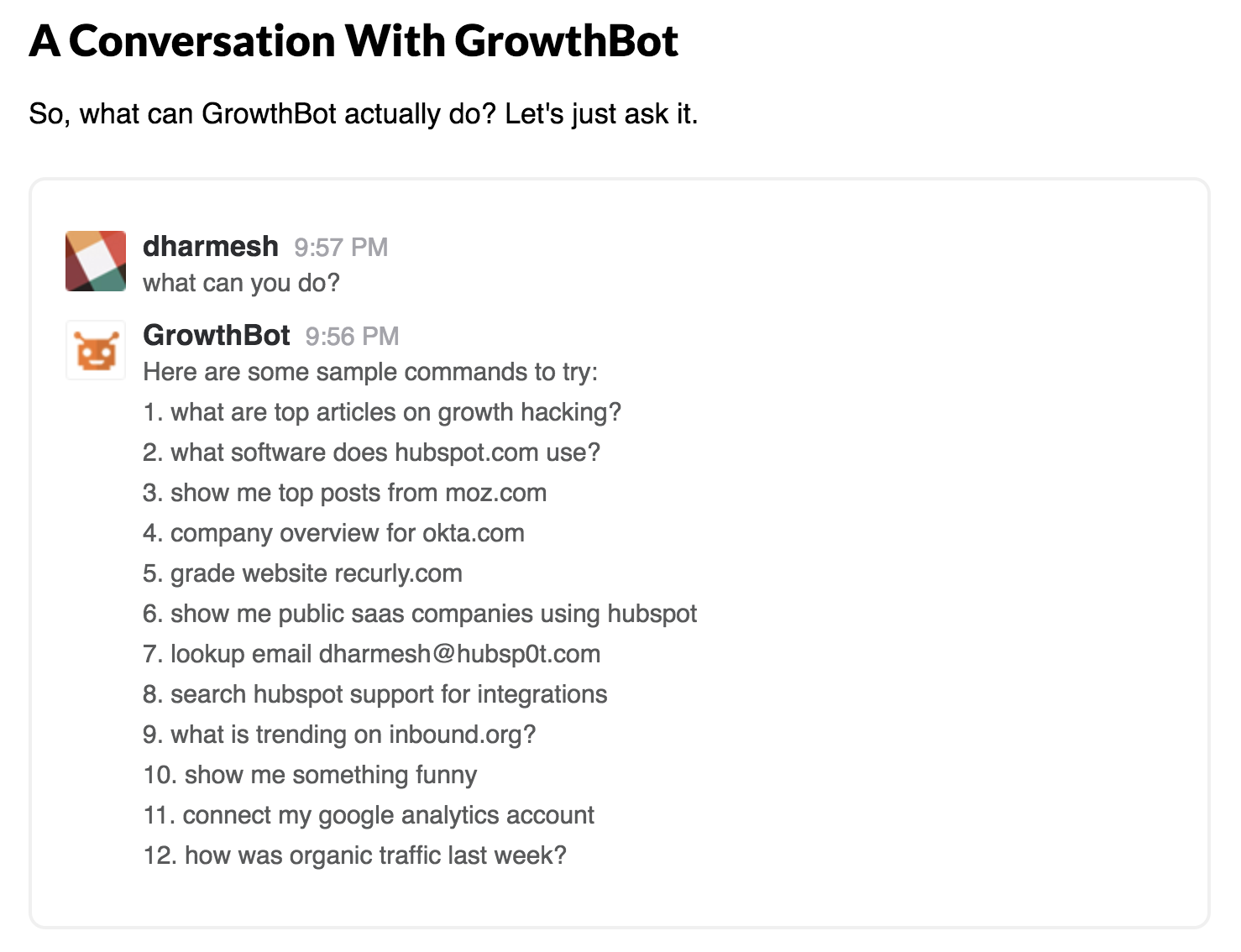 Growthbot inbound marketing tool